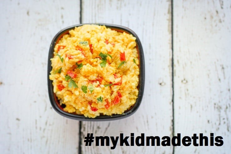 Easy Egg Fried Rice from the Kids Cook Real Food eCourse