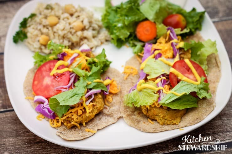 Meatless Chickpea Wraps - like falafel but not deep fried (3) Watermarked