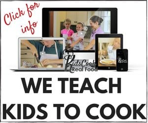 We teach kids to cook - Kids Cook Real Food online course has over 4,000 members and growing