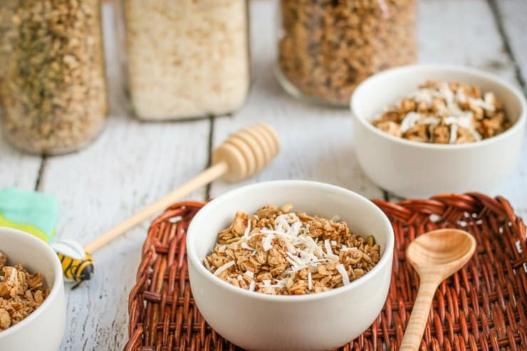 Homemade Soaked Crunchy Coconut Granola