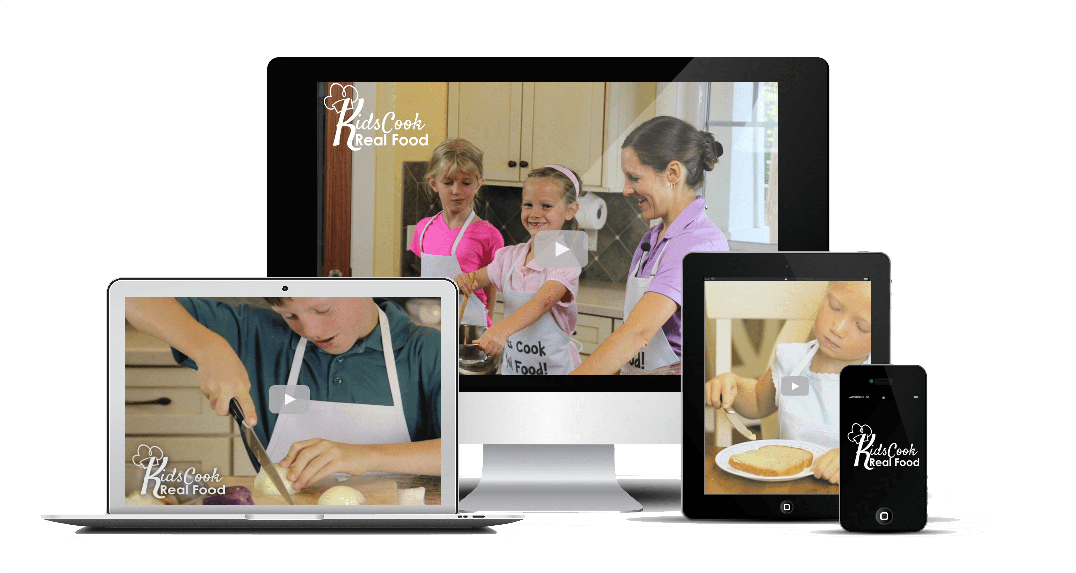 Kids Cook Real Food eCourse cooking class for kids