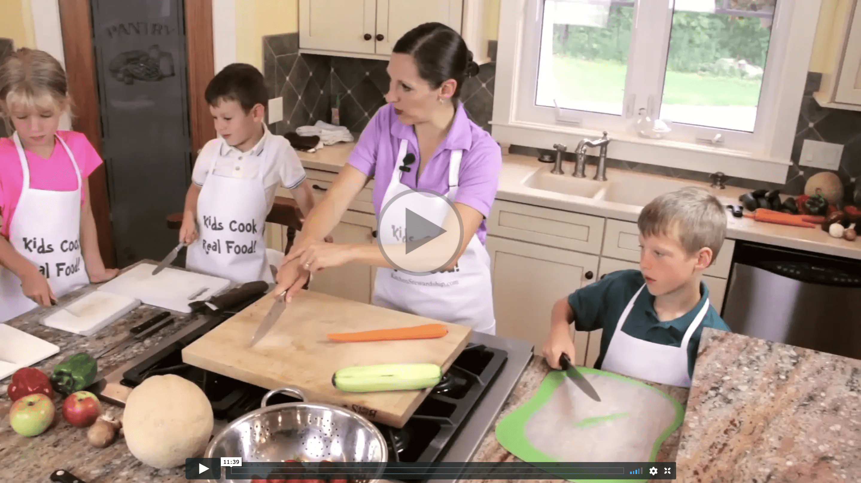 kids cooking class knife skills video