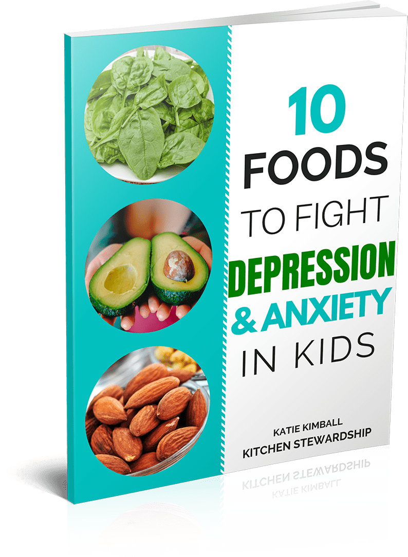 10 foods to fight depression and anxiety in kids cover