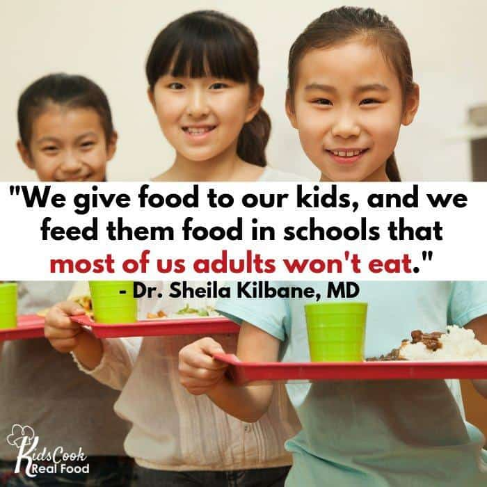 Quote about what we feed our kids