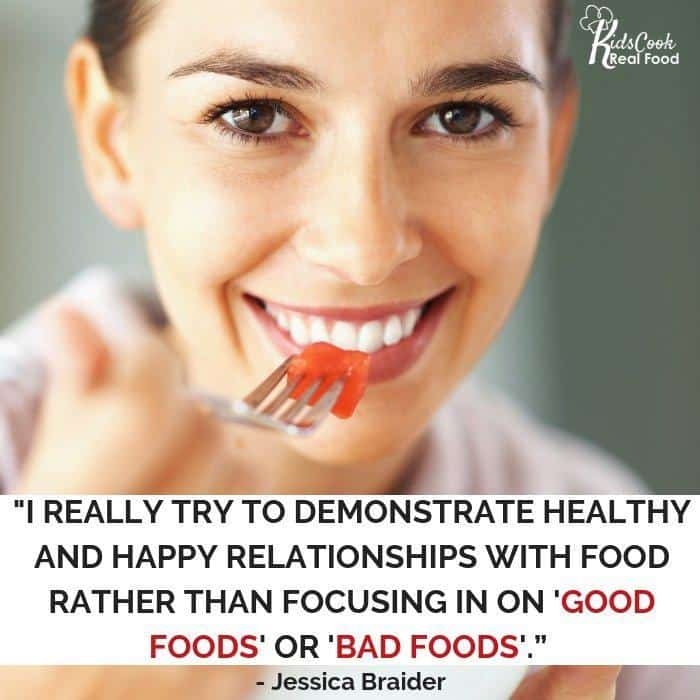 Inspirational quote about food relationships