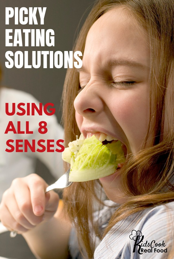 Helo your picky eater be more adventurous with food by utilizing all 8 senses! Melanie Potock shares some simple tips and fascinating information about how each sense impacts a child's eating.