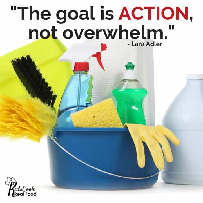 The goal is action, not overhwlem - Lara Adler