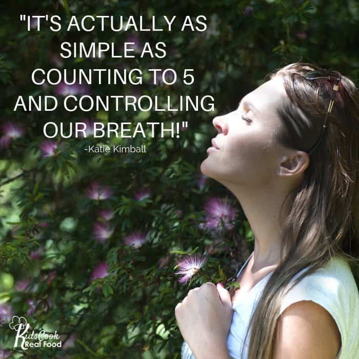 It's actually as simple as counting to 5 and controlling our breath! -Katie Kimball