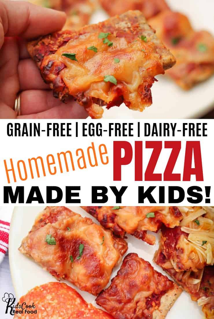 Grain-free kid-made pizza