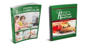 Paperback Curriculum and Recipe Books for Kids Cook Real Food