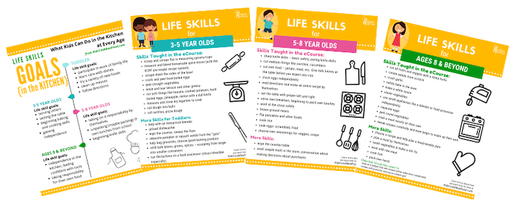 Life Skills Goals in the Kitchen Printables