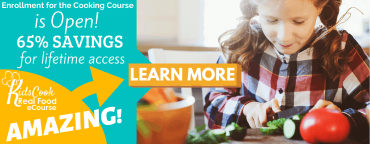 enrollment is open for the video cooking class for kids