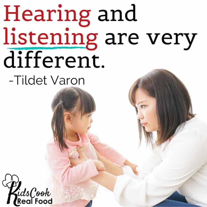 Hearing and listening are two very different things.  -Tildet Varon