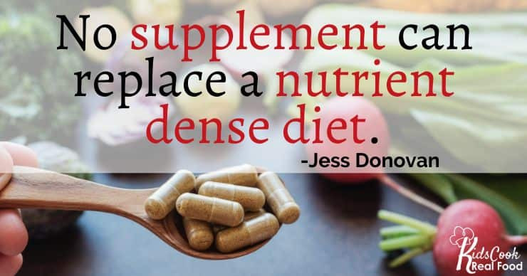 There's no supplement that can replace a good nutrient foundation through their diet. -Jess Donovan