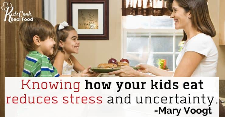 Knowing how your kids eat removes an element of stress and uncertainty from eating. -Mary Voogt