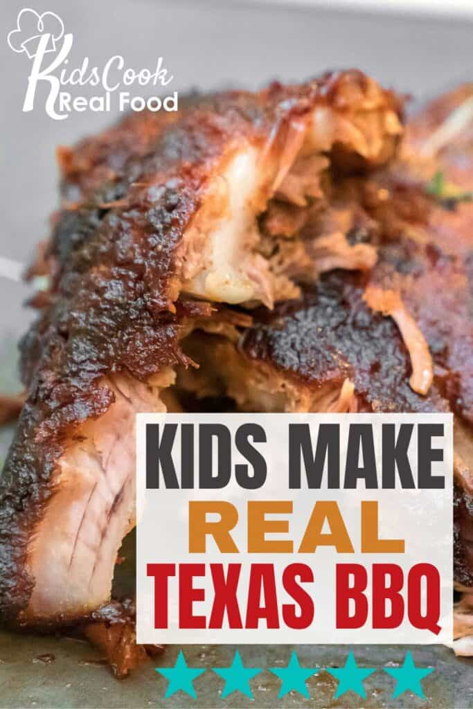 Kids make real texas bbq