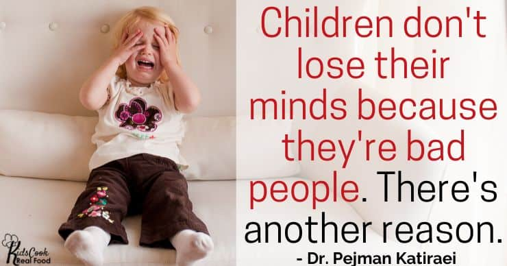 Your child isn't losing their mind because they're a bad person, it's because their blood sugar has crashed. -Dr. Katiraei