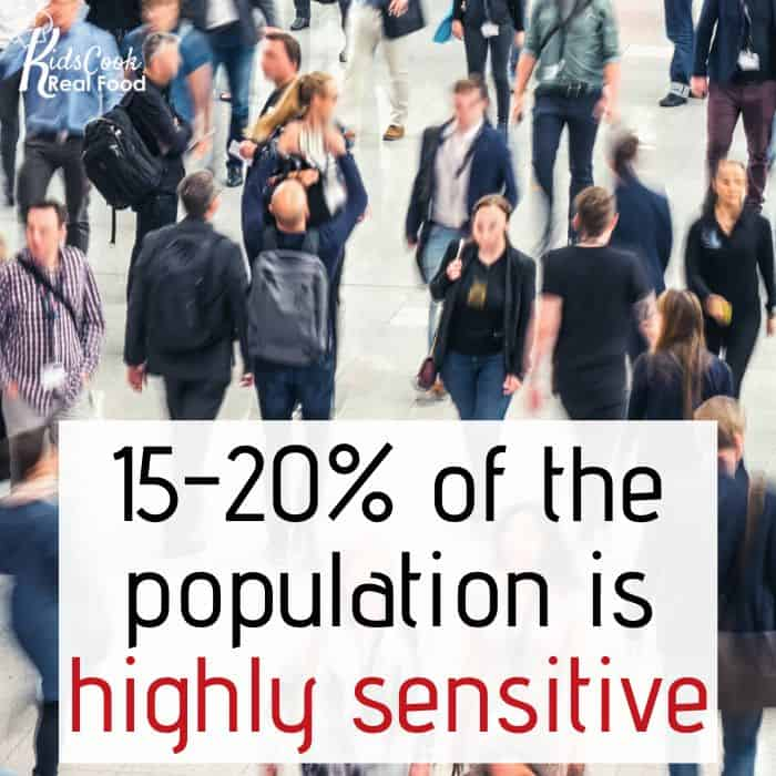 15-20% of the population is highly sensitive.