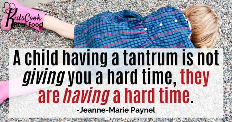 When children have a tantrum they are not giving you a hard time, they are having a hard time. -Jeanne-Marie Paynel