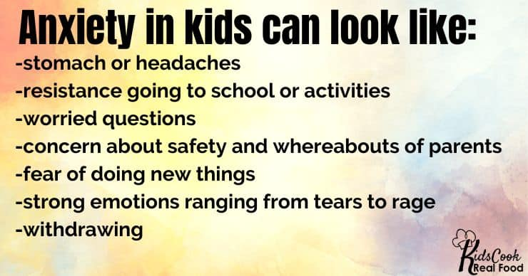 what does anxiety look like in kids?