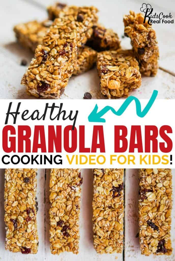 healthy granola bars: cooking video for kids