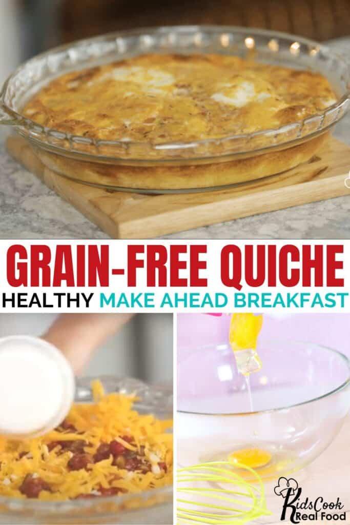 Grain-free quiche